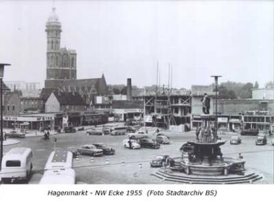Hagenmarkt - NW Ecke 1955