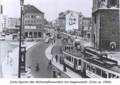 Erste Spuren des Wirtschaftswunders am Hagenmarkt
