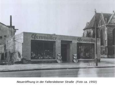 Neueröffnung in der Fallersleber Straße (Foto ca. 1950)