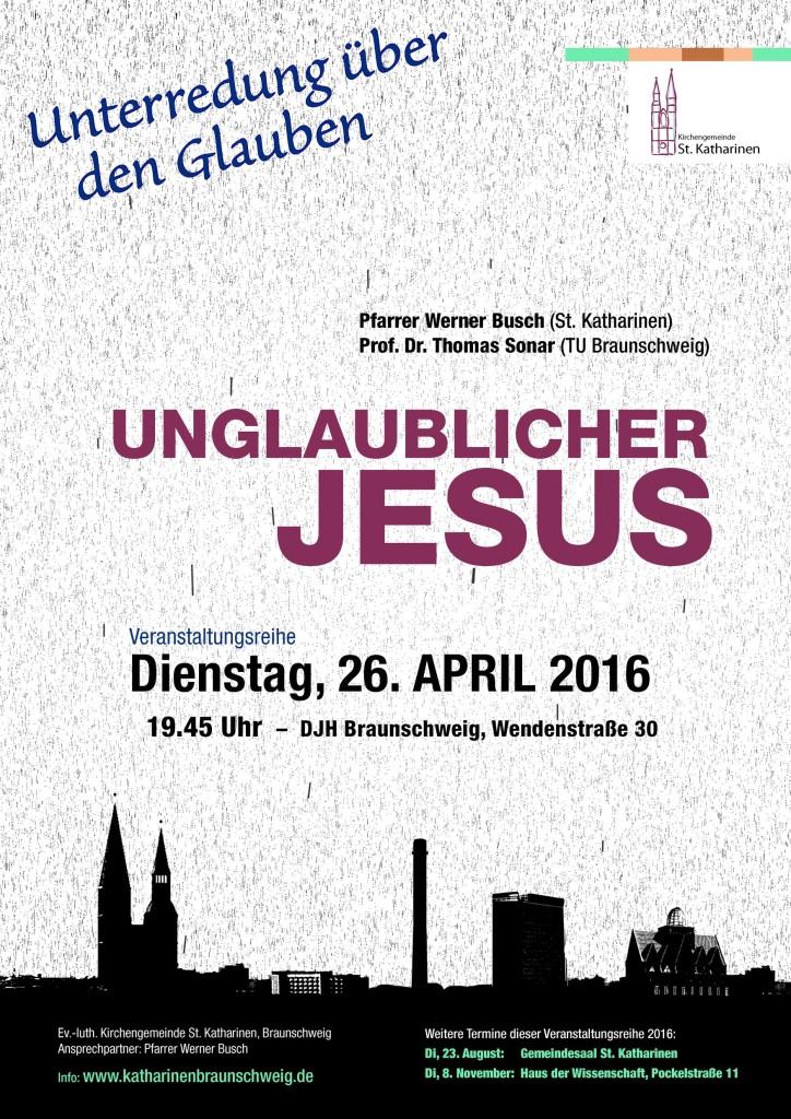 Plakat Unglaublicher JESUS_klein