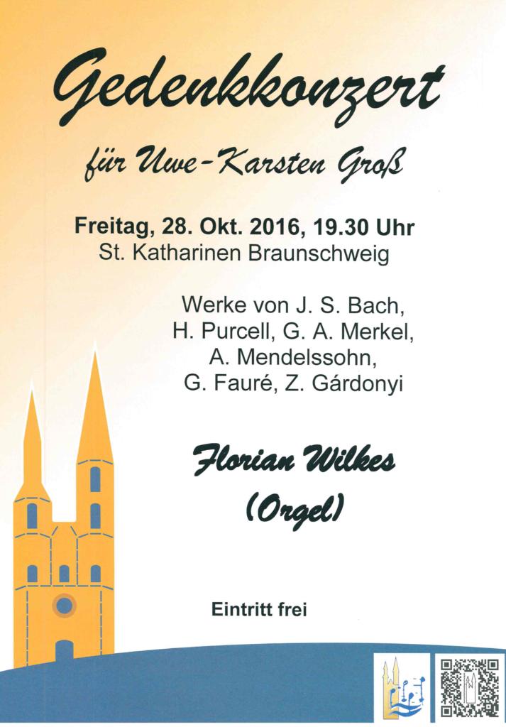 Gedenkkonzert für Uwe-Karsten Groß @ St. Katharinen | Braunschweig | Niedersachsen | Deutschland