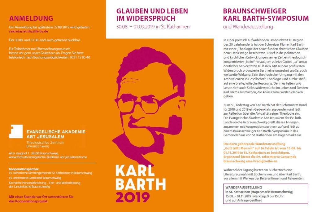 Braunschweiger Karl Barth-Symposium @ Barrierefreies Gemeindehaus St. Katharinen