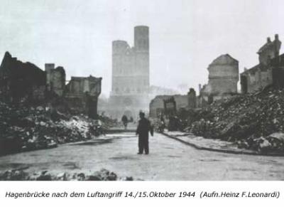 Hagenbrücke nach dem Luftangriff 14./15. Oktober 1944