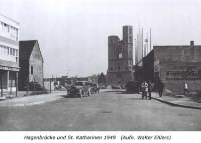 Hagenbrücke und St. Katharinen 1949